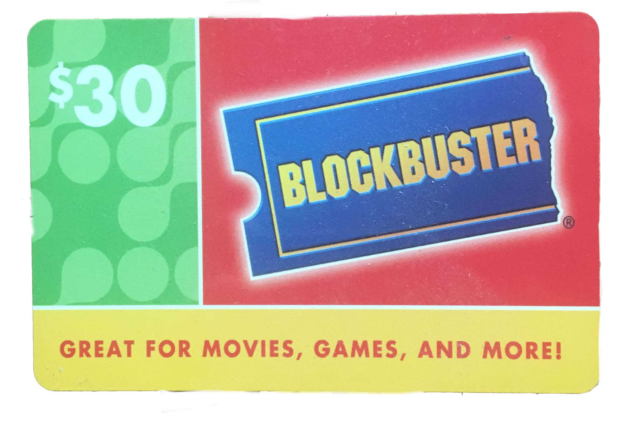 Gift Card Photo - Block Buster