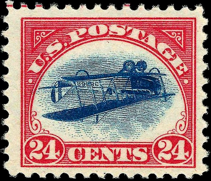 Inverted Jenny postage Stamp