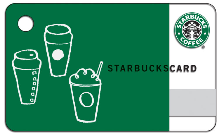Gift card sample - starbucks